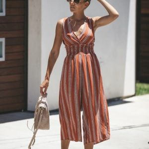 Vici Rust Wide Leg Jumpsuit